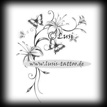 ein paar selbst gezeichnete tattoomotive wie blumen. Black Bedroom Furniture Sets. Home Design Ideas